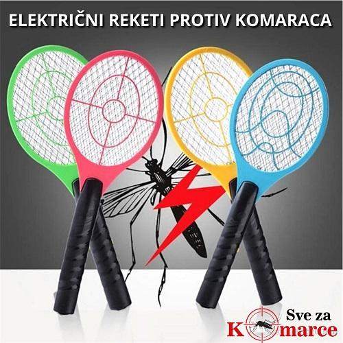 2u1 Reket protiv komaraca + LED Lampa